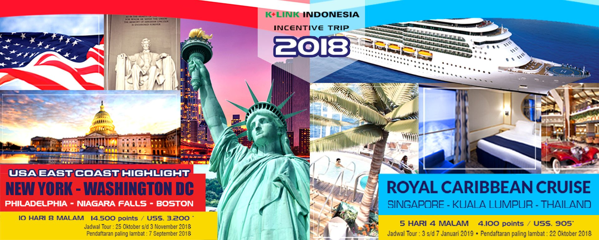 INCENTIVE TRIP ROYAL CARRIBEAN CRUISE & USA