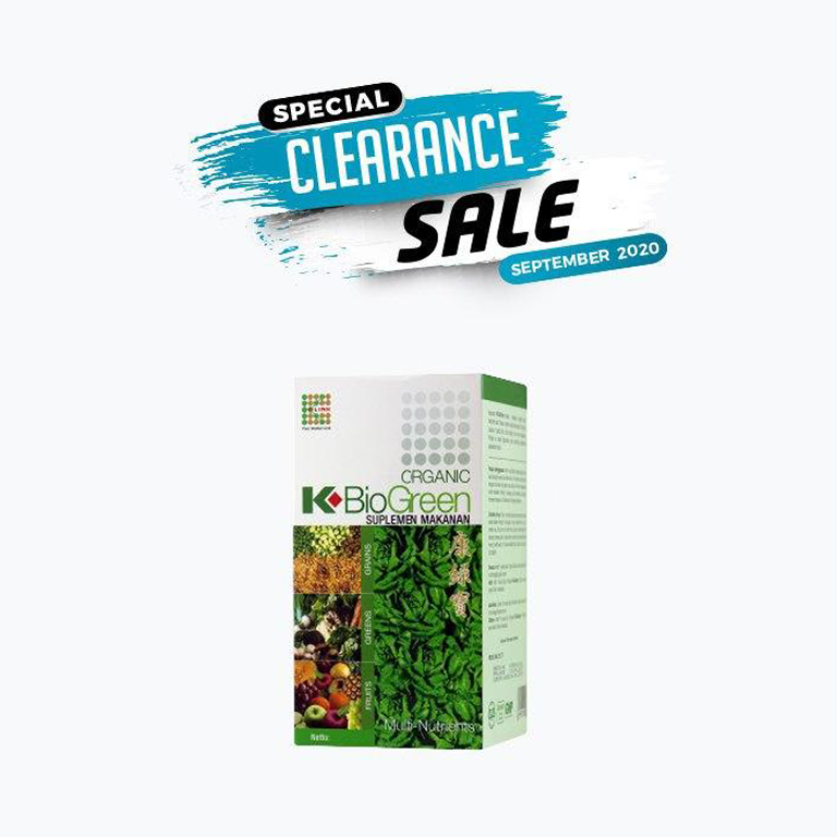 SPECIAL CLEARANCE SALE SEPT2020 BIOGREEN